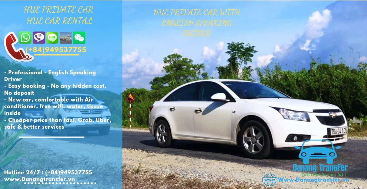 Private Car Rental >> Transfer From Hue To Hoian By Private Car Rental Only 60 Usd